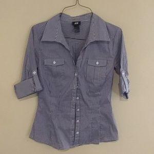 H&M pinstripe blouse